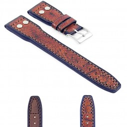 Gallery DASSARI Continental iw5 Vintage Italian Leather Strap w Rivets