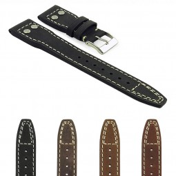 Gallery DASSARI Dynasty iw3 Distressed Italian Leather Strap with Rivets