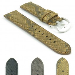 Gallery DASSARI Outlaw p442 Genuine Python Skin Watch Strap