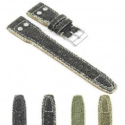 Gallery DASSARI Weave iw7 Frayed Edge Canvas Strap w Rivets