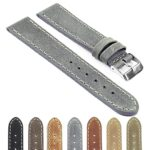 Gallery df1 Distressed Leather Watch Strap with Stitching