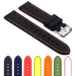 Gallery pu1 Rubber Strap with Contrast Stitching