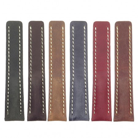 all color DASSARI Venture brc1 Distressed Italian Leather Watch Strap for BREITLING