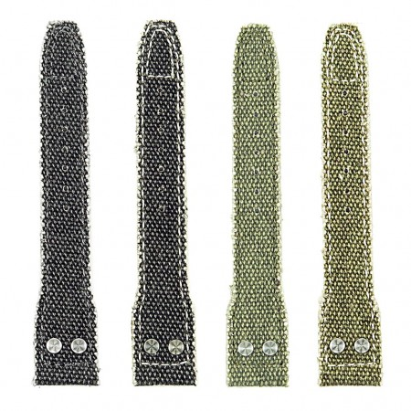 all color DASSARI Weave iw7 Frayed Edge Canvas Strap w Rivets