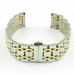bm102 Two Tone Stainless Steel Band with Hidden Clasp