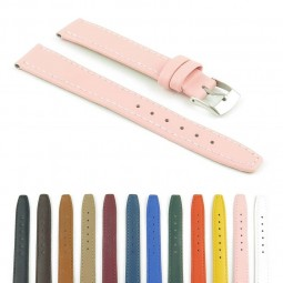 366.13 Womens Slim Leather Watch Strap in Pink