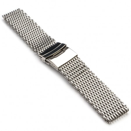 m1.ss Shark Mesh Strap in Stainless
