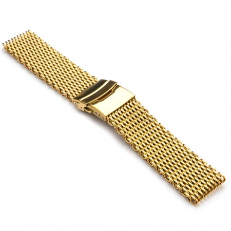 m1.yg Shark Mesh Strap in Yellow Gold