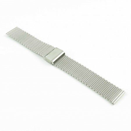 m2.ss Milanese Mesh Strap in Stainless Steel