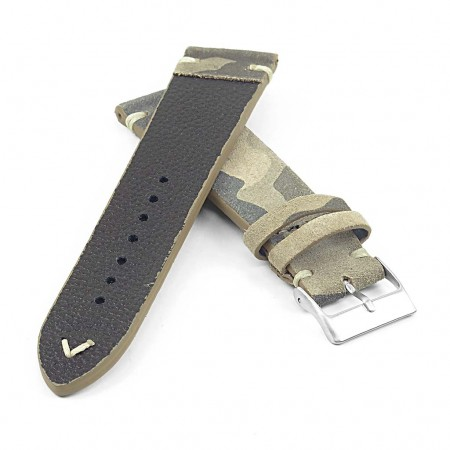 st16.11 Suede Camo Watch Strap in green Moss