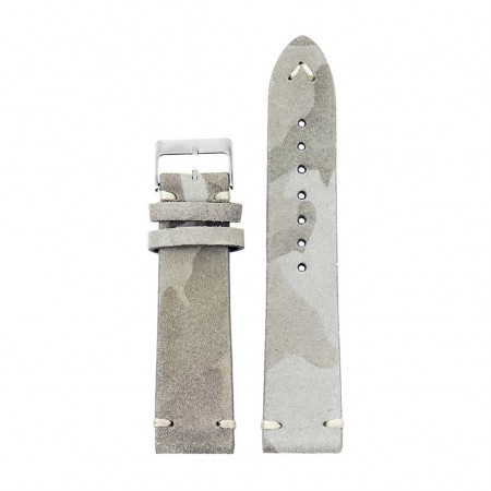 st16.5 Suede Camo Watch Strap Cream camo