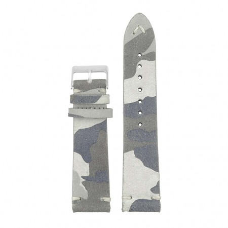 st16.7 Suede Camo Watch Strap in blue camo