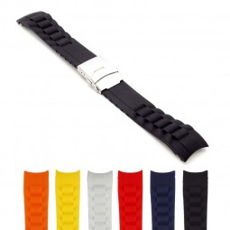 Gallery sbr23 Rubber Strap with Clasp and Curved Ends