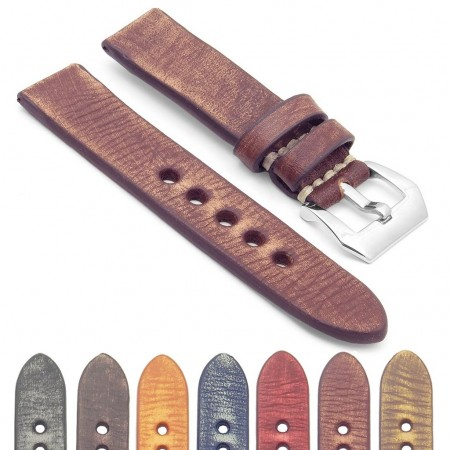 Gallery Thick Distressed Leather Strap