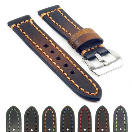 Gallery st12 Thick Leather Strap with Darkened Ends