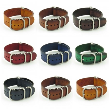 Gallery st793 Faded Vintage Leather NATO Strap