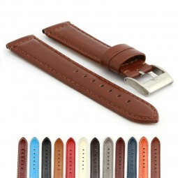 363.8A Smooth Padded Leather Watch Strap in Light Brown
