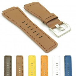 gallery DASSARI Magnum Leather Watch Strap for Bell and Ross in Tan