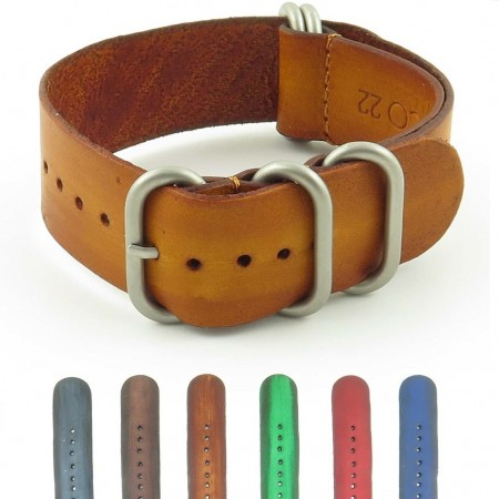st712.3 Faded Vintage Leather NATO Strap in Tan