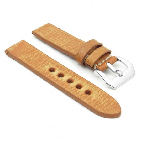 st10.3 Thick Distressed Leather Strap in tan