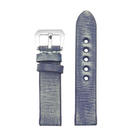 st10.5 Thick Distressed Leather Strap in Blue