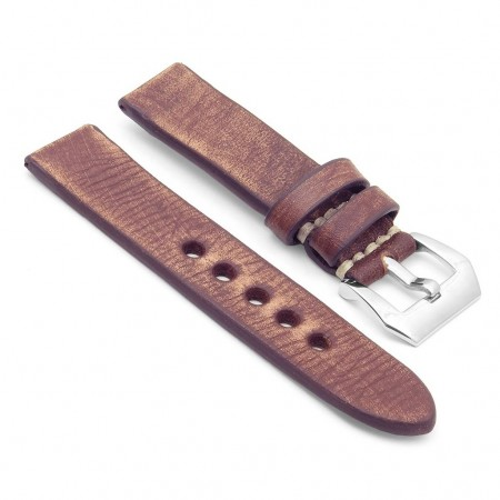 st10.9 Thick Distressed Leather Strap in Rust