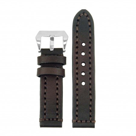 st12.2 Thick Leather Strap with Darkened Ends in brown
