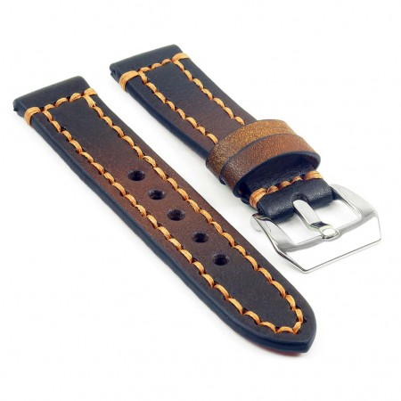 st12.3 Thick Leather Strap with Darkened Ends in tan