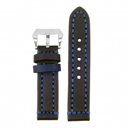 st12.5 Thick Leather Strap with Darkened Ends in bluest12.5 Thick Leather Strap with Darkened Ends in blue
