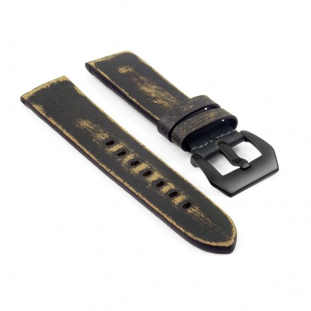 st13.11.mb Destroyed Thick Leather Strap in green
