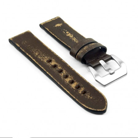 st13.2 Destroyed Thick Leather Strap in brown