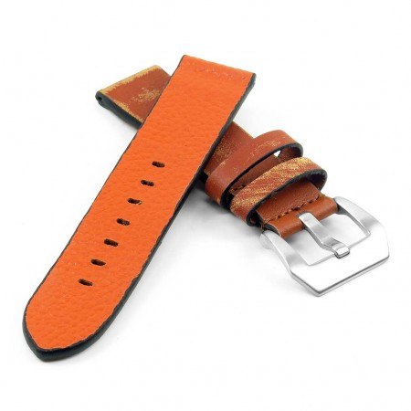 st13.3 Destroyed Thick Leather Strap in tan