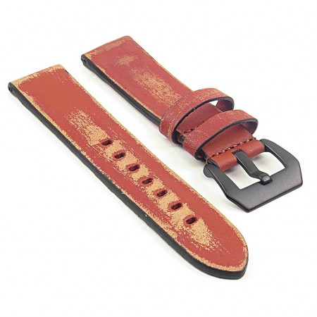 st13.3.mb Destroyed Thick Leather Strap in tan