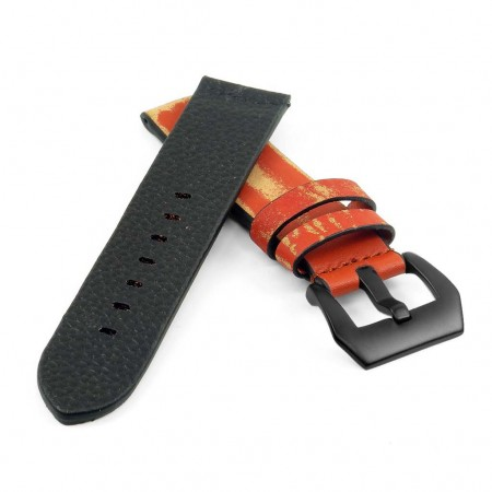 st13.8.mb Destroyed Thick Leather Strap in rust