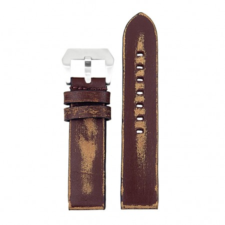 st13.9 Destroyed Thick Leather Strap in dark brown