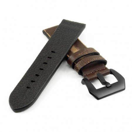 st13.9.mb Destroyed Thick Leather Strap in brown
