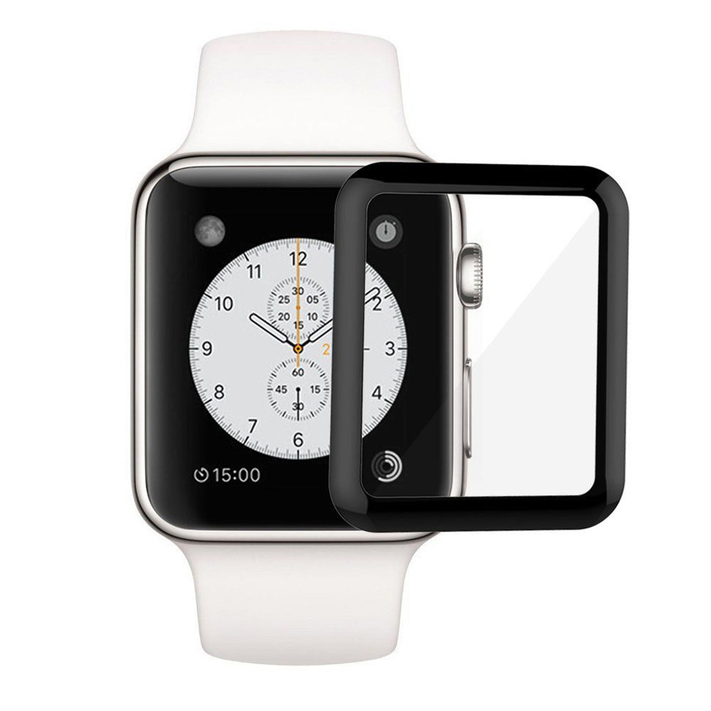 watch f150a cfd72 Apple Watch 3D Curved Surface Tempered Screen Protector