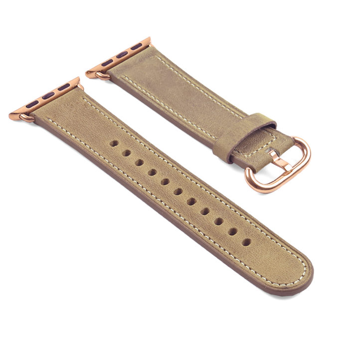 f58e17766 ... Rose Gold Buckle +. DASSARI Vintage Leather Strap For Apple Watch +. +