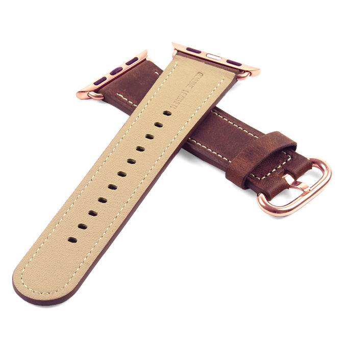 28f79c714 ... Rose Gold Buckle +. DASSARI Vintage Leather Strap For Apple Watch +. +.  +. +. +. +. +