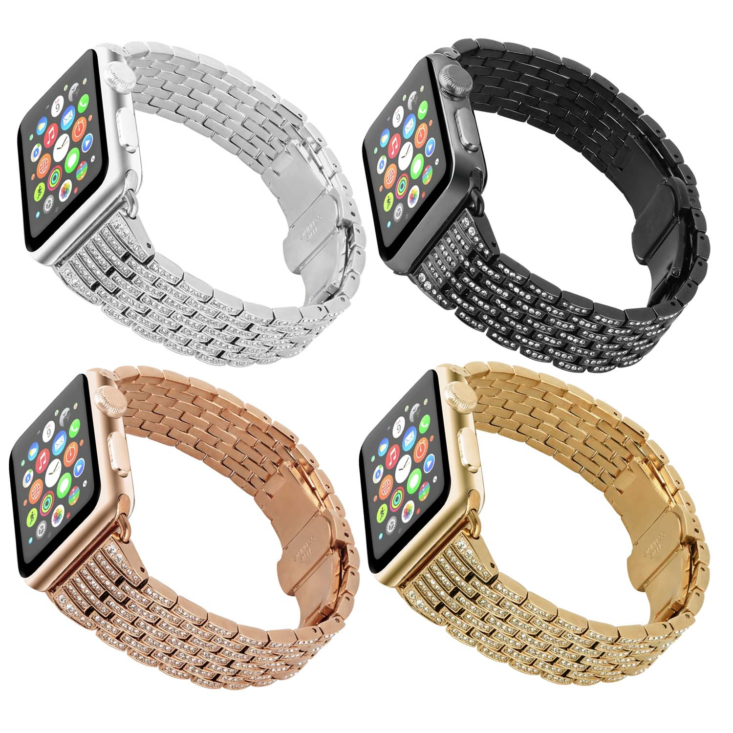 0cf095bb3 Rhinestone Bracelet Replacement Strap for Apple Watch | StrapsCo