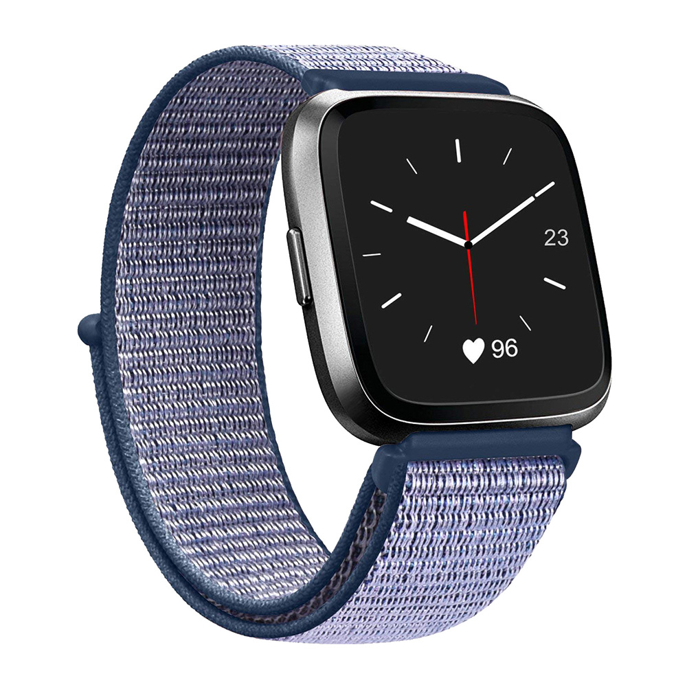 Blue Nylon Watch Band Strap For Fitbit Versa