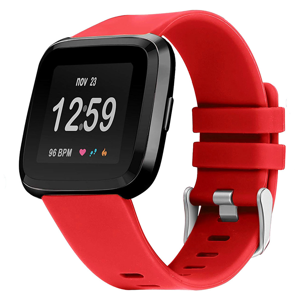 Red Rubber Watch Band Strap For Fitbit Versa