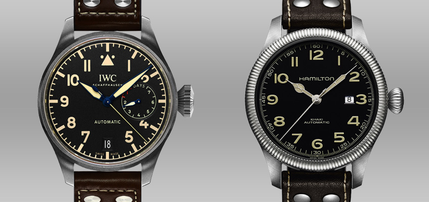 Splurge Vs Save Less Expensive Alternatives To Famous Luxury Watches Iwc Big Pilots Watch Heritage Hamilton Khaki Pioneer Auto