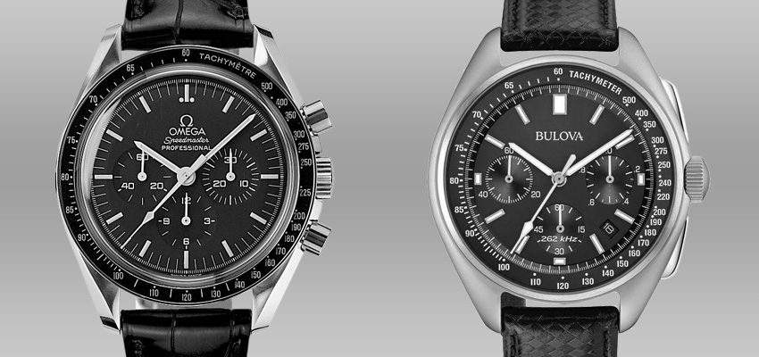 Splurge Vs Save Less Expensive Alternatives To Famous Luxury Watches Omega Speedmaster Professional Bulova Lunar Pilot Chronograph