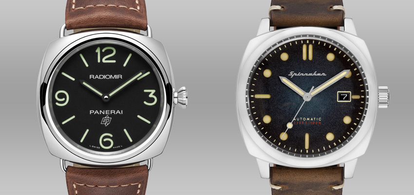 Splurge Vs Save Less Expensive Alternatives To Famous Luxury Watches Panerai Radiomir Base Logo Spinnaker Hull Automatic