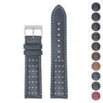 Perforated Leather Racing Strap