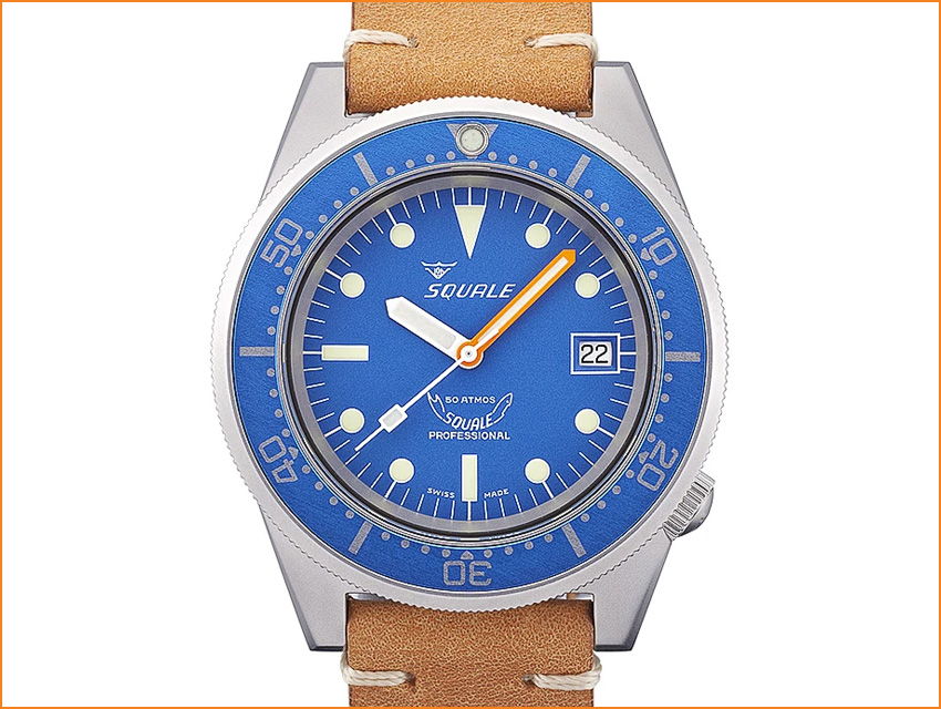 Best Dive Watches Under 2000 Dollars Squale 50 Atmos Blue Ocean 1521 026