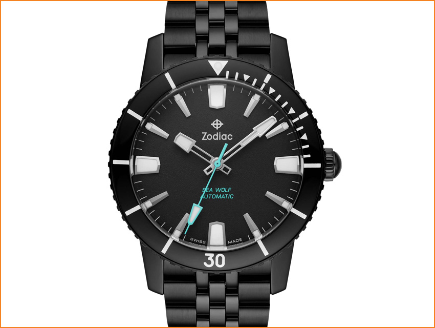 Best Dive Watches Under 2000 Dollars Zodiac Super Sea Wolf 53 Compression Automatic Black Zo9276