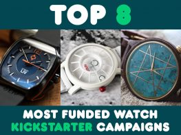Top 8 Most Funded Watch Kickstarter Campaigns Header
