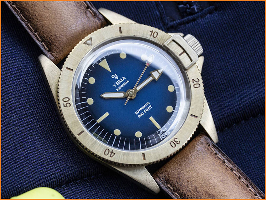 Top 8 Most Funded Watch Kickstarter Campaigns Yema Superman Heritage Bronze